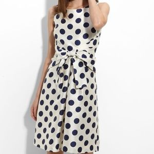 "Kate Spade ""Jillian"" navy polka dot dress 4"